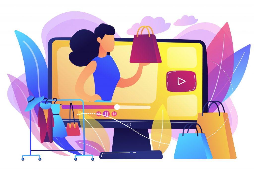 ilustración moda en internet