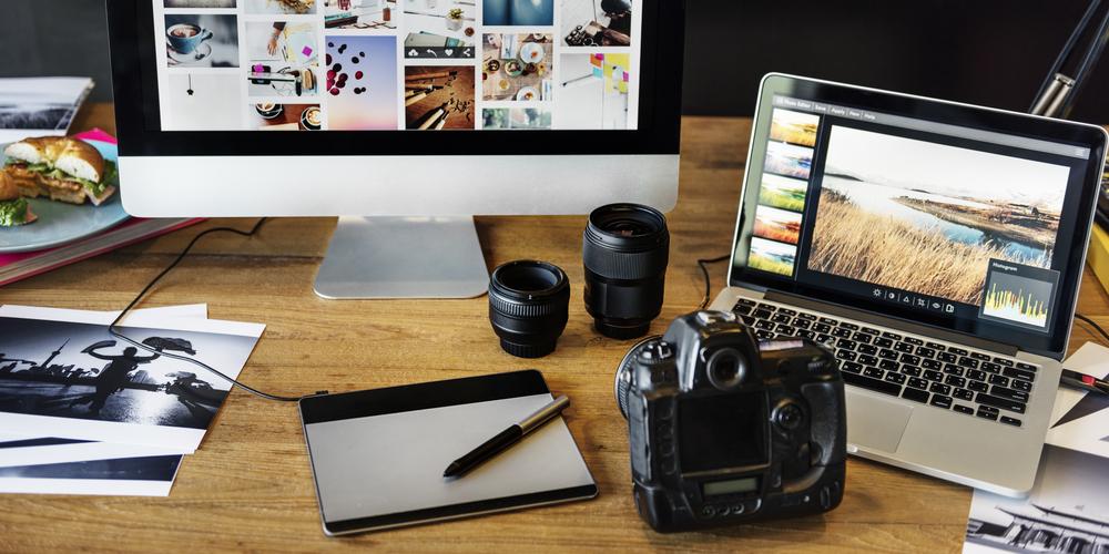 edición de fotos en la composición