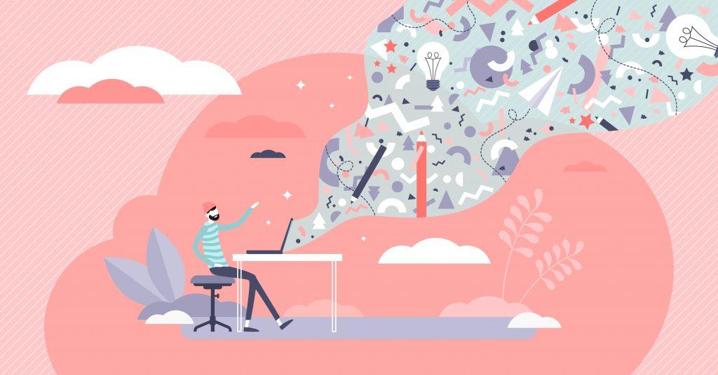ilustración de creatividad publicitaria